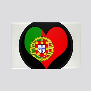 I love Portugal Flag Rectangle Magnet
